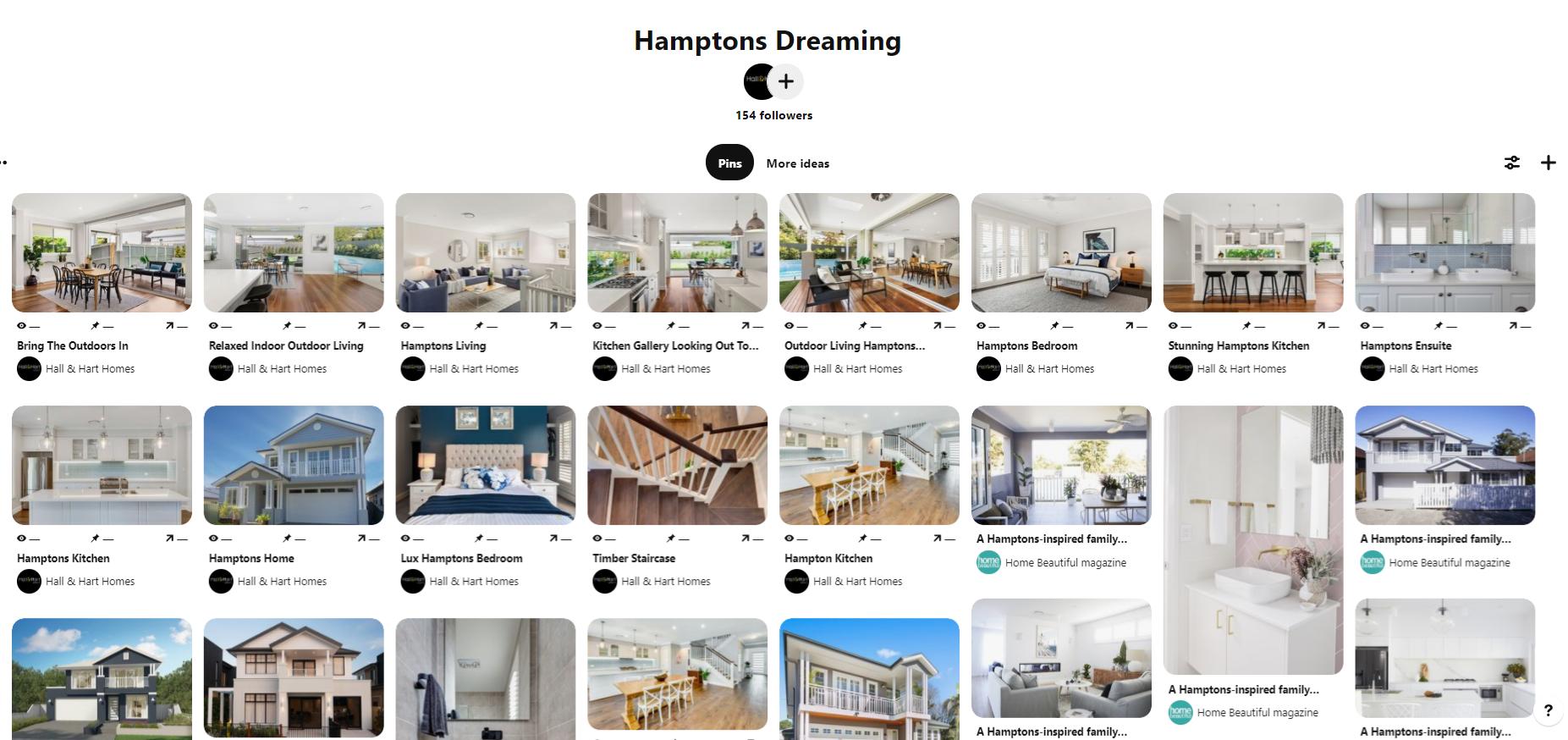 Hamptons Dreaming board